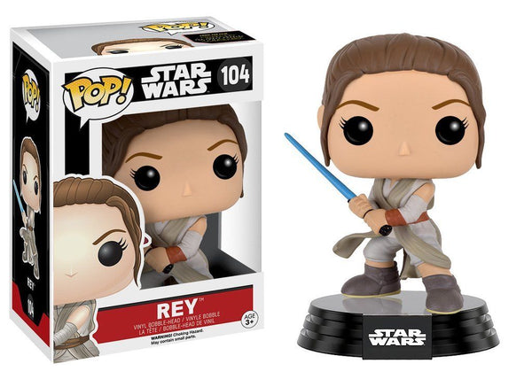 DISNEY Star Wars REY FUNKO Vinyl Bobble Head Funko Pop! #104 - 219 Collectibles