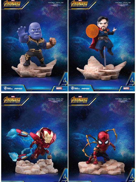 IN STOCK! Avengers Infinity War Mini Egg Attack MEA-003 Mini-Statue SET OF 4