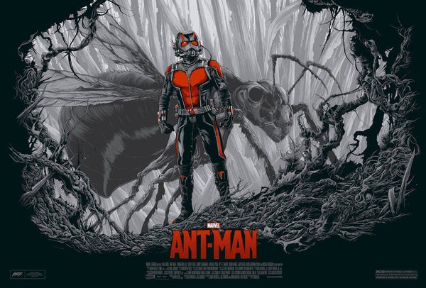 2016 SDCC Exclusive Movie Variant Poster Ant-Man by Mondo Artist Ken Taylor - 219 Collectibles