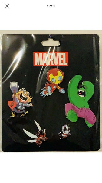 Marvel Skottie Young Avengers 5 Pin Set 2019 SDCC COMIC CON