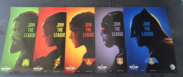 Justice League Posters FULL SET + Free Double Sided Thor Ragnarok 13.5x20 INCHES - 219 Collectibles