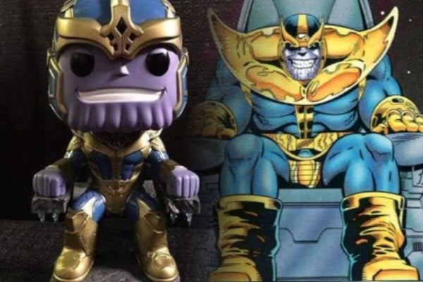 FUNKO POP MARVEL STUDIOS THANOS WITH THRONE 6 INCH 331 HOT TOPIC EXCLUSIVE
