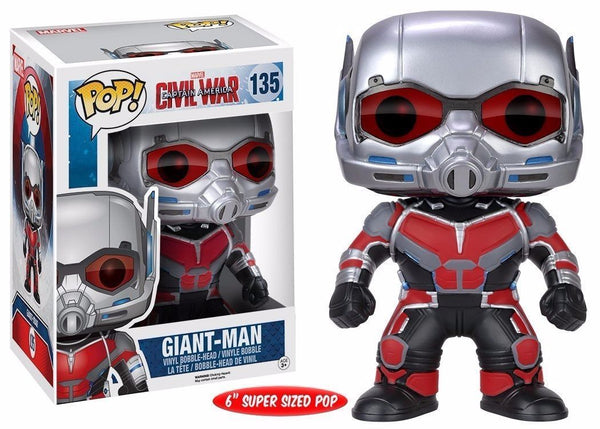 "LAT ONE! Funko Pop! Marvel Captain America 3 Civil War - 6"" Giant Man Vinyl Action Figure - 219 Collectibles"