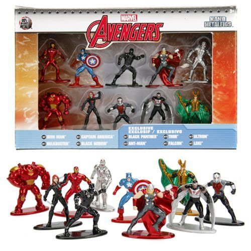 Marvel Nano Metalfigs Jada Die-Cast Mini-Figures 10-Pack Wave 1 - 219 Collectibles