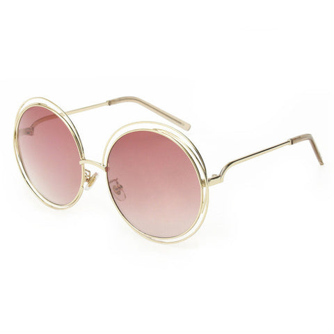 Elegant Round Wire Frame Sunglasses – Healthy Deals Shop