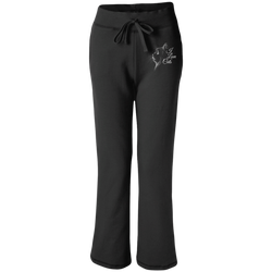 I Love Cats Women's Open Bottom Sweatpants with Pockets