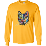 Work of Art Cat ... Long-Sleeve T-Shirt (Exclusive Design)