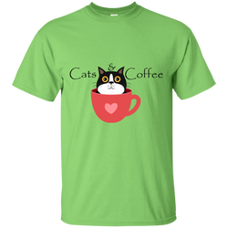 Cats & Coffee ... Exclusive Design Unisex T-Shirt