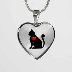 Black Cat Love Necklace and Bangle