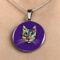 Work of Art Cat Pendant (FREE Shipping - limited time)