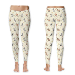 Country Cats & Flowers Leggings