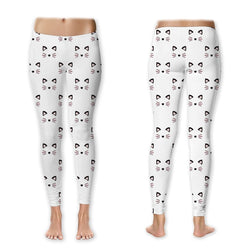 Leggings - Blushing Kitty Whiskers Leggings (Exclusive Design - $10 Off - Limited Time)