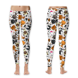 Leggings - Cute Colorful Kitties Leggings (Exclusive Design - $10 Off - Limited Time)