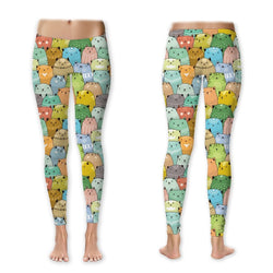 Leggings - Dressed Up Kitties In A Crowd Leggings (Exclusive Design - $10 Off - Limited Time)