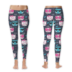 Leggings - Hello Pretty Kitty Leggings (Exclusive Design - $10 Off - Limited Time)
