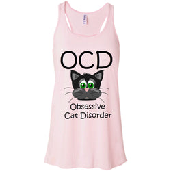 T-Shirts - Do You Have OCD - Obsessive Cat Disorder?  (Exclusive Design Flowy Racerback Tank)