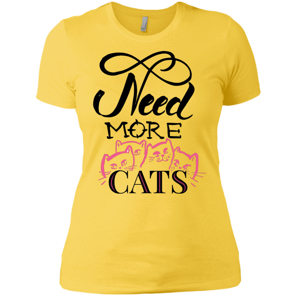 T-Shirts - Need More Cats Ladies T Shirt (Exclusive Design)