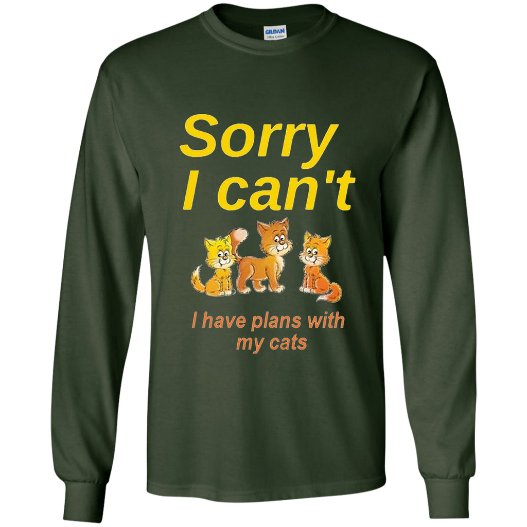 T-Shirts - Sorry I Can't ... (Exclusive Design Long-Sleeve T Shirt)