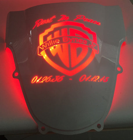 Custom Light Up Windscreens