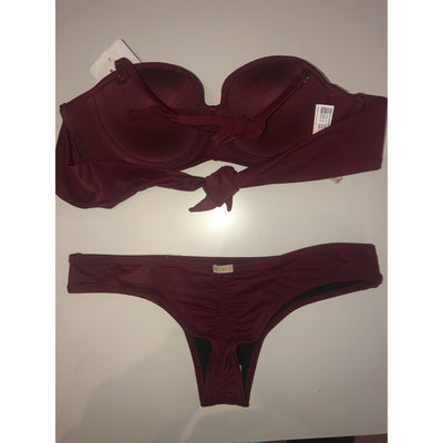 Kiby's Wine Bandeau Top