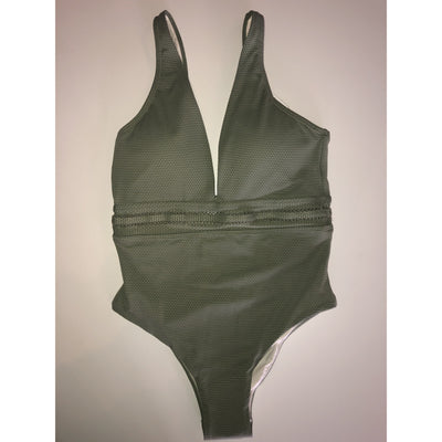 Kiby's Olive Plunge One Piece