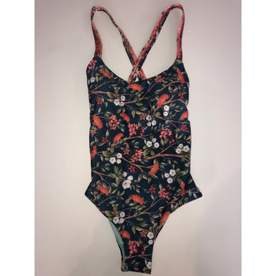 Kiby's Cross Back Blue Floral One Piece