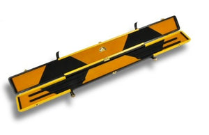 Genuine Leather Case for 3/4 Jointed Cue & Extension (black and Yellow)