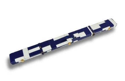 Genuine Leather Case for 3/4 Jointed Cue & Extension (white and Blue)