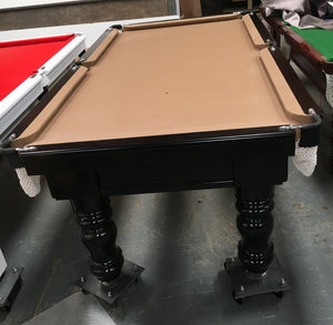 7ft Turned leg billiard table
