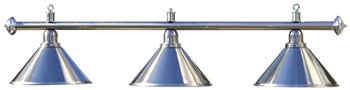 Chrome pole with 3 lights (pole only)