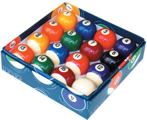 "2"" numbered pool balls"