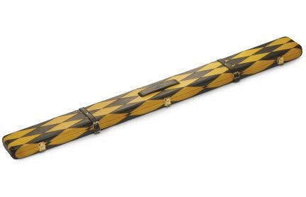 Genuine Leather Case for 3/4 Jointed Cue & Extension (yellow and Black)