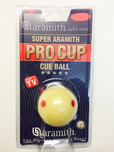 "1 7/8"" Aramith spotted white"