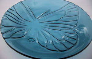 Friendly Butterfly - Large Bowl - Turquoise ultramarine - Katharine Oliver