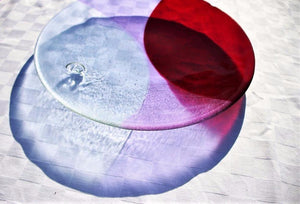 Circularity Bespoke Platter - No. 7 Shades of indigo, lilac and red - Katharine Oliver
