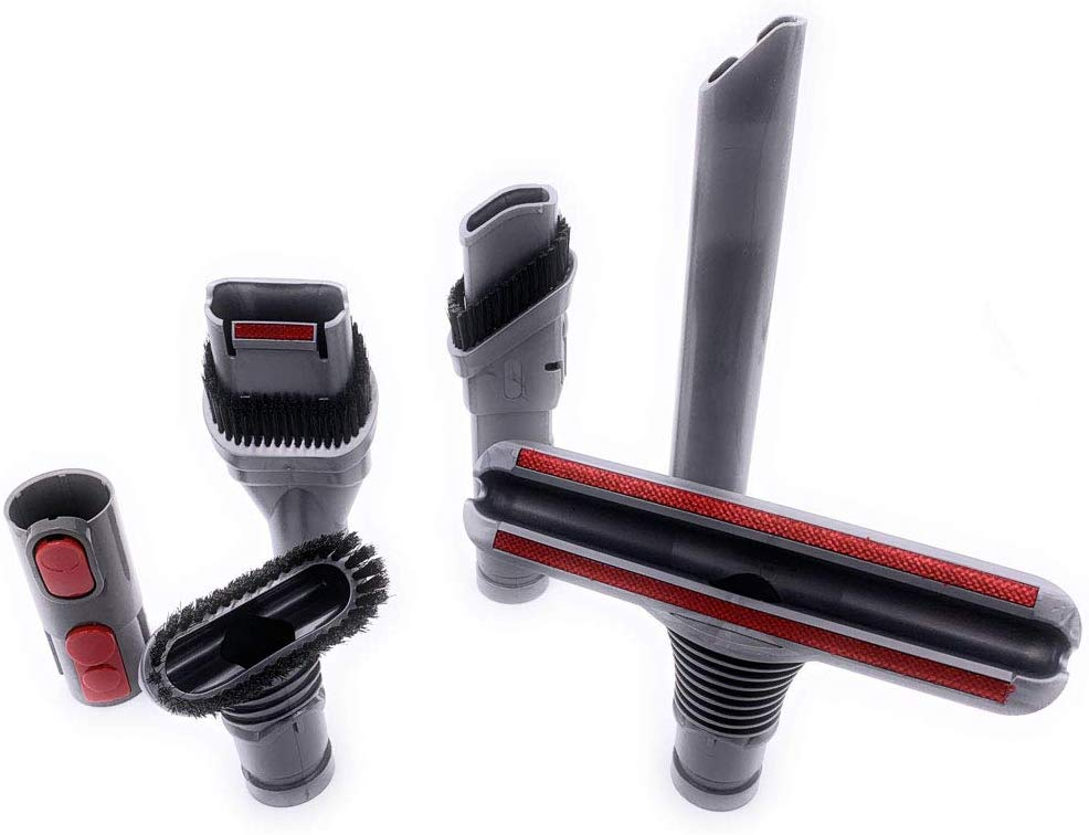 xcivi 5 Packs Replacement Attachments Brush Nozzle Tools Accessories Compatible with Dyson V10,V10 Absolute,V8,V8 Absolute,V6, V7, DC58,DC59, DC44,DC35,DC59,DC24,DC16,DC62,DC39Handheld Vacuum Cleaner