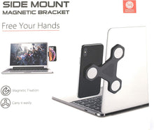 xcivi Monitor Side Mount Magnetic Bracket Laptop Duo Screen Mount - Mount Your Smartphone or Tablet to Your Laptop and Monitor (Black)