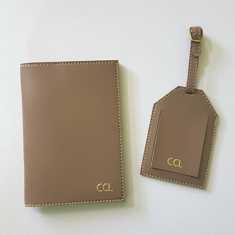 923b36d6bb2 Monogram Passport Holder and Luggage Tag Set – Vin   Cole