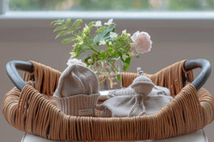 natural merino cable knit hat and chunky boots gift set