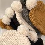 chunky knit baby hats with pompoms