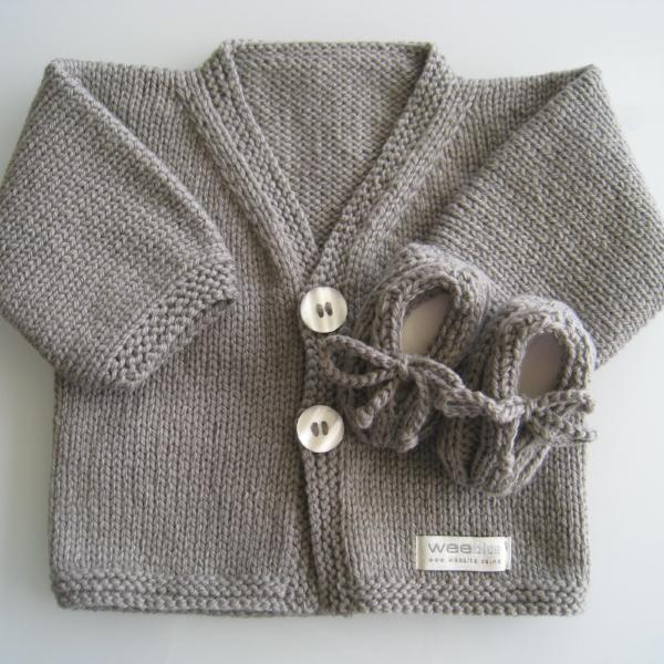 Merino Cardigan Loafer Gift Set Newborns NZ Made