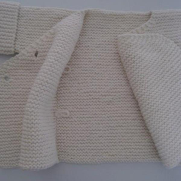 natural merino baby double breasted jacket showing inner button detail