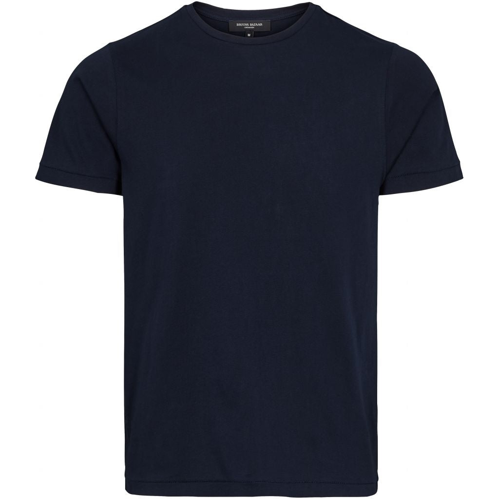 Bruuns Bazaar Men Gustav T-shirt T-shirts Men Navy
