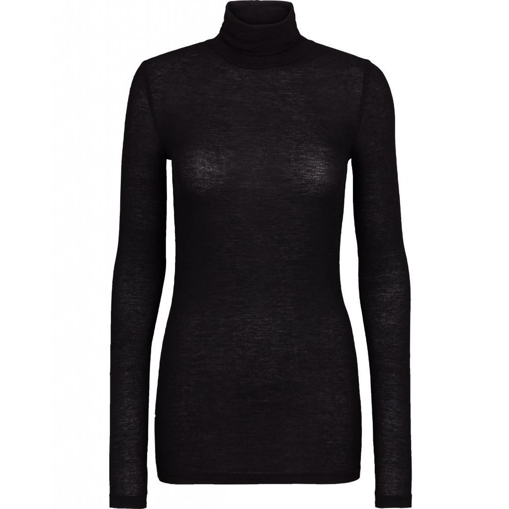 Bruuns Bazaar Women Angela Roll neck T-shirts Black