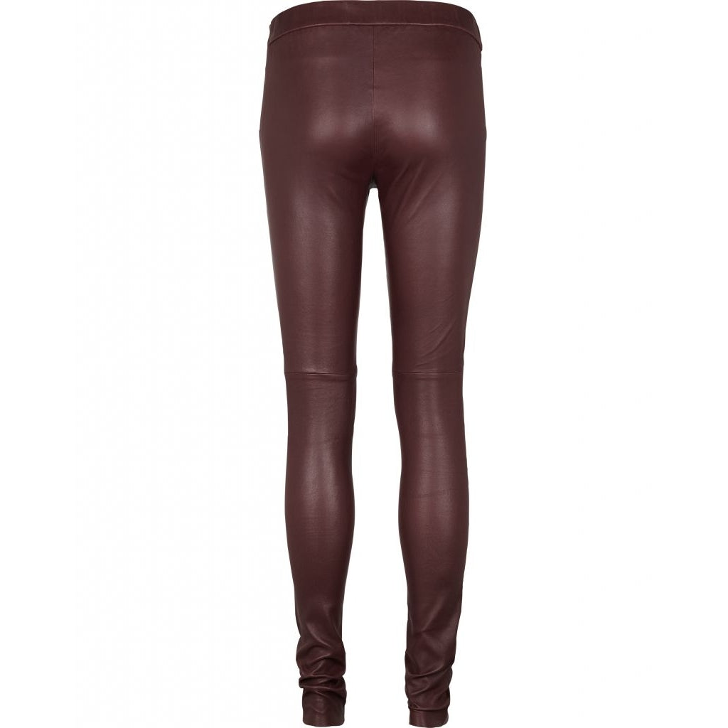 Chrissy leather leggins - Dusty Bourdeaux