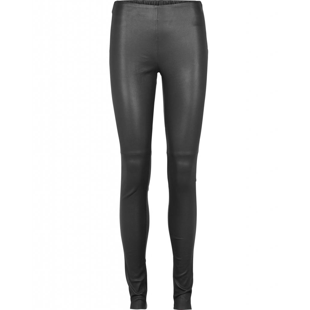 Bruuns Bazaar Women Chrissy leather leggins Leather Bottom Black
