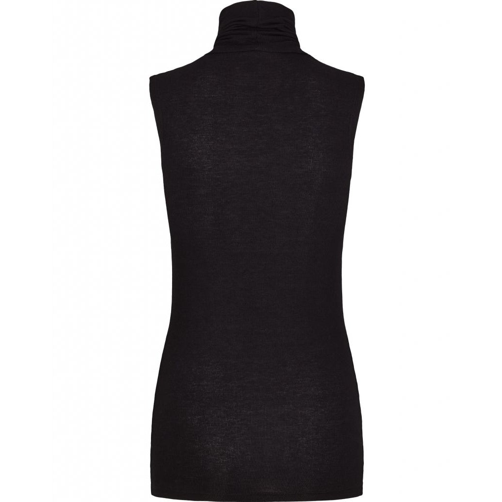 Angela Sleeveless Top - Black