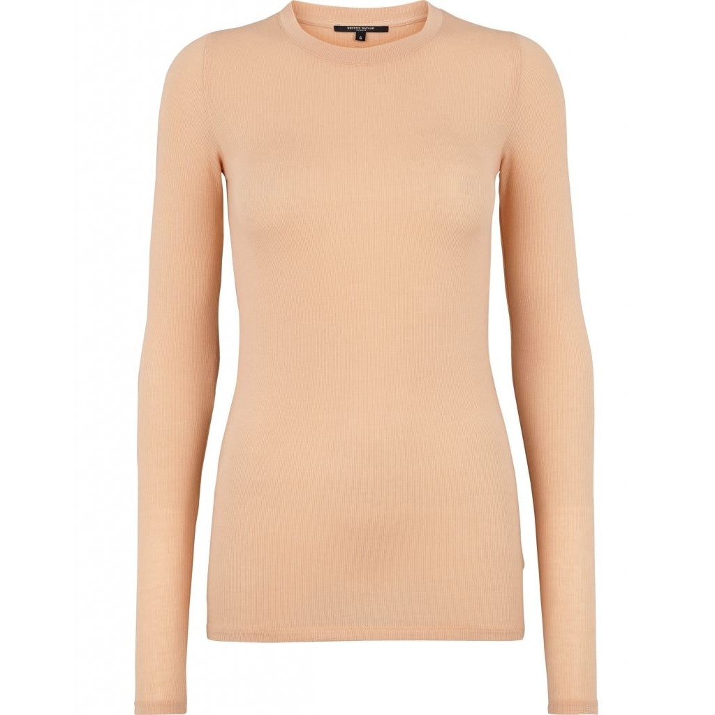 Angela LS T-shirt - Warm Beige