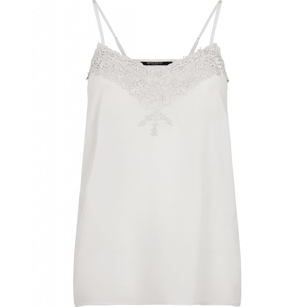 Becca Strap Top - Light Grey