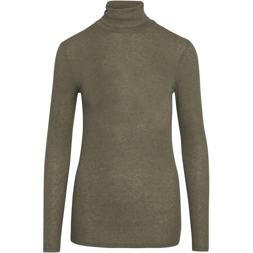 Bruuns Bazaar Women Angela Roll neck T-shirts Deep Olive